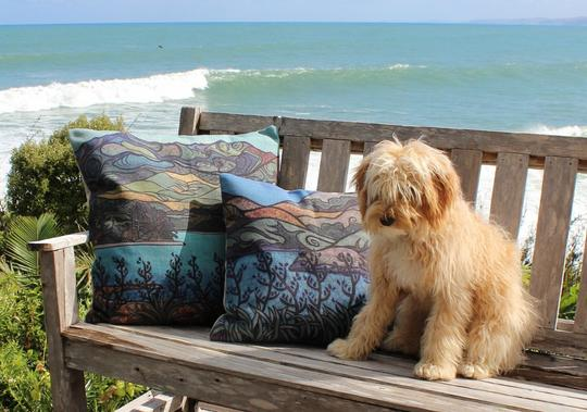 Cushion covers by Miranda Jane Caird