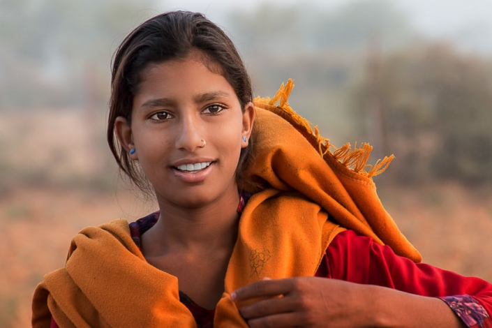 ©2015, Janet Scott, Young Girl Jaipur India, Photograph