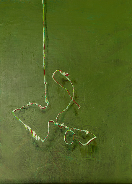 Problem - straighten it up by Lois Brooks, acrylic